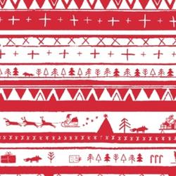 North Pole Stripe in Red