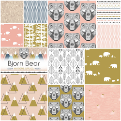 Bjorn Bear Fat Quarter Bundle in Sommar