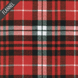 Mammoth Traditional Plaid Flannel in Scarlet