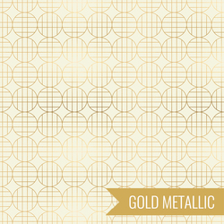 Moon Grid in Metallic Gold
