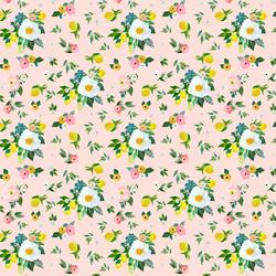Small Lemon Blossoms in Sunrise Pink