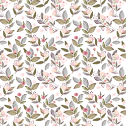 Little Tossed Floral in White