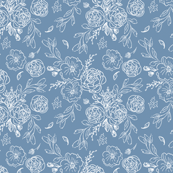 Lace Floral in Periwinkle