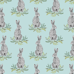 Bunnies in Glacier Blue