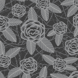 Bed of Roses in Onyx and Smoke