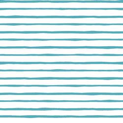 Artisan Stripe in Lagoon on White