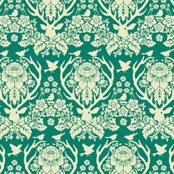 Little Antler Damask in Green Meadow
