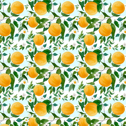 Small Oranges in Spring Breeze Stripes