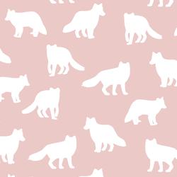 Fox Silhouette in Blush