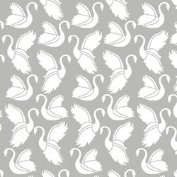 Swan Silhouette in Pebble