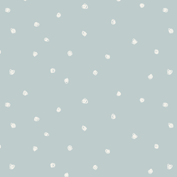 Squiggle Dots in Light Misty Blue