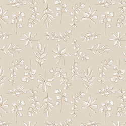 Sunbleached Leaves in Taupe