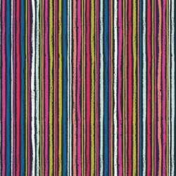Chalk Stripe in Multi Dark