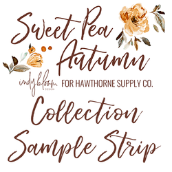 Sweet Pea Autumn Sample Strip