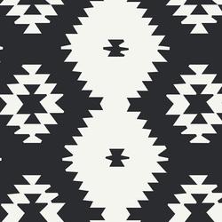Daring Tribal Canvas in Noir