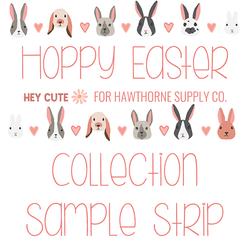 Hoppy Easter Sample Strip