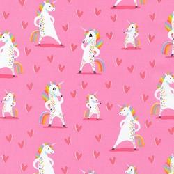 Magical Rainbow Unicorns in Pink