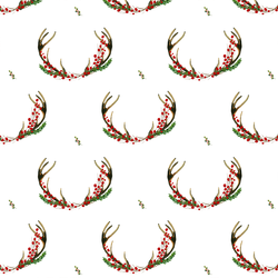 Small Holiday Horns in White