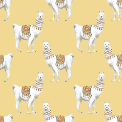 Llamas in Yellow
