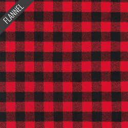 Mammoth Two Check Plaid Flannel in Red