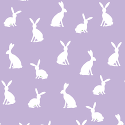 Cottontail Silhouette in Lilac