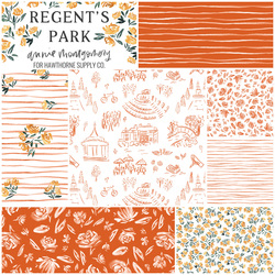 Regent's Park Fat Quarter Bundle in Rouge