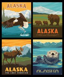 Pillow Panel in Alaska Wildlife