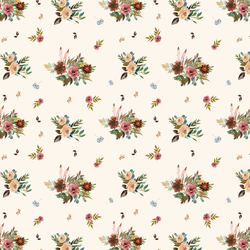 Small Fall Floral in Soft Ivory