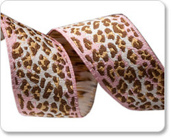 Skinny Ombre Leopard in Pink and Brown