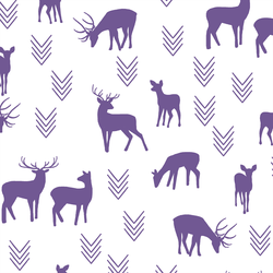 Deer Silhouette in Ultra Violet on White
