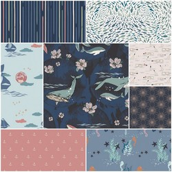 Enchanted Voyage Fat Quarter Bundle in South Waters