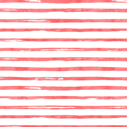 Watercolor Stripes in Peppermint