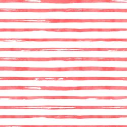 Watercolor Stripes in Peppermint