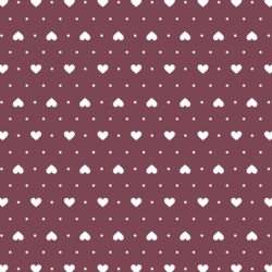 Heart Dots in Wildberry