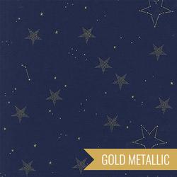 Lucky Stars in Navy Metallic