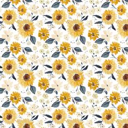 Little Sunflower Girl in Cream