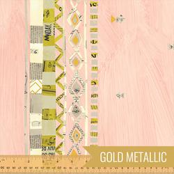 Zigzag Double Border in Millennial Pink Metallic