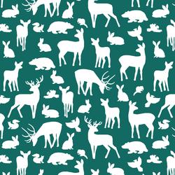 Forest Friends in Emerald