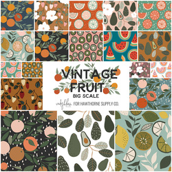 Vintage Fruit Fat Quarter Bundle Big Scale