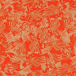 Lizard Border in Tangerine