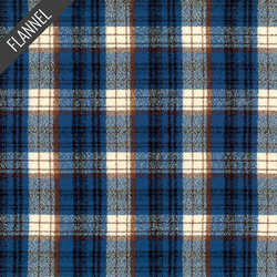 Mammoth Optical Plaid Flannel in Blue