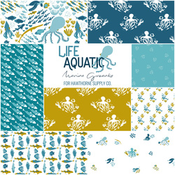 Life Aquatic Fat Quarter Bundle in Atlantic