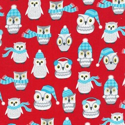Owl Friends in Red