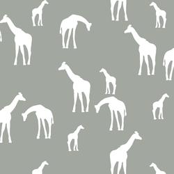 Giraffe Silhouette in Sage
