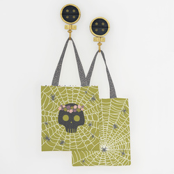 Trick or Treat Tote Panel in Zest
