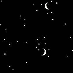 Moon and Stars in Black
