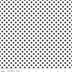 Small Dots in Black on White