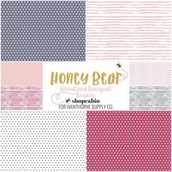 Honey Bear Basics Fat Quarter Bundle in Woodland Bouquet