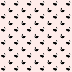 Small Swan Silhouette in Black on Soft Blush