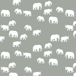 Elephant Silhouette in Sage